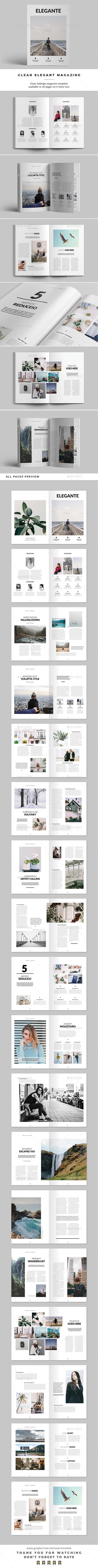 Clean Elegant Magazine - Magazines Print Templates