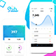 MyStats - Analytics Banking Mobile App UI Kit Design