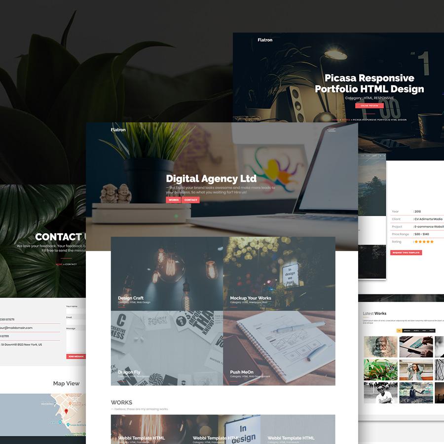 Flatron - Responsive Portfolio HTML Template by igdepe | ThemeForest