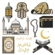 Islam Icon with Religion and Culture Symbols - GraphicRiver Item for Sale