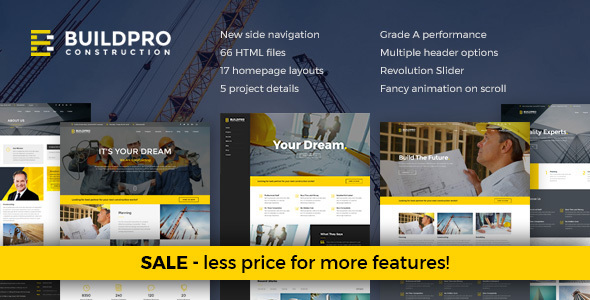 BuildPro - Construction and Building Joomla Template