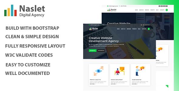 Naslet - Digital Agency HTML Template