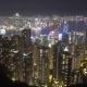 Hong Kong at Night From Victoria Peak,