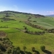 Tuscany Aerial Landscape of Farmland Hill Country