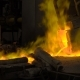 Hot Steel Pouring at Steel Plant. In the Frame, Molten Metal Is Poured Through Special Channels - VideoHive Item for Sale