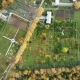 Public Botanic Garden Next in Yoshkar-Ola at Autumn Day. Aerial Video