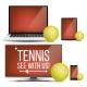 Tennis Application Vector