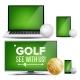 Golf Application Vector