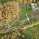 Aerial and Video Survey of Botanic Garden Next in Yoshkar-Ola at Autumn Day
