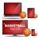 Basketball Application Vector