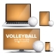 Volleyball Application Vector - GraphicRiver Item for Sale