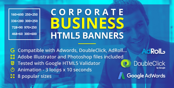 Corporate Business Banners - Animated HTML5 Banner Ads (GWD) - CodeCanyon Item for Sale