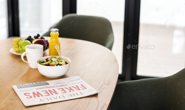 Healthy breakfast in meeting room - Stock Photo - Images