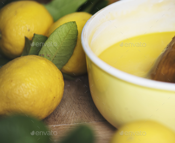 Lemon curd food photography recipe idea - Stock Photo - Images