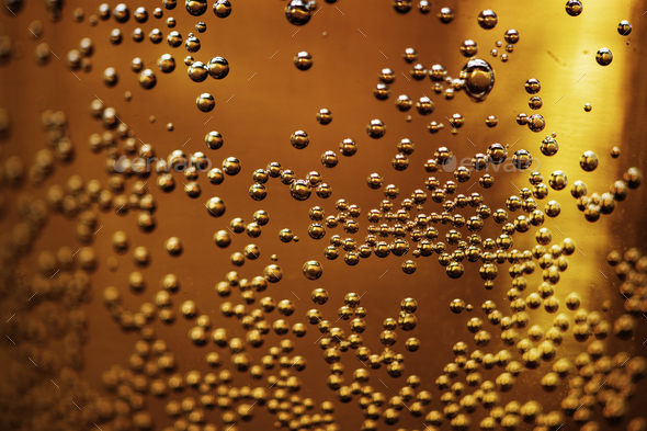 Closeup of bubbles in a glass - Stock Photo - Images