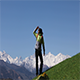 Hiker Climbs The Mountains - VideoHive Item for Sale