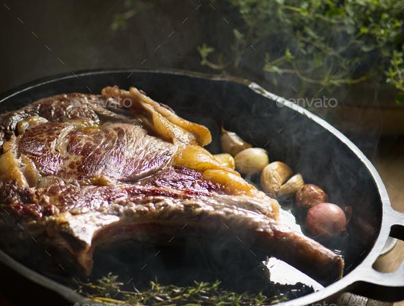 Lamb food photography recipe idea - Stock Photo - Images