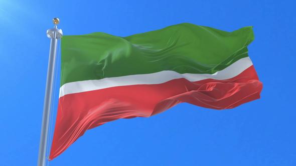 flag of tatarstan waving by ianm35 videohive