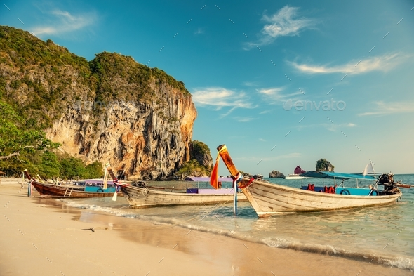 A beautiful beach in Thailand - Stock Photo - Images
