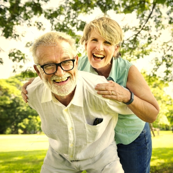 Senior Couple Relax Lifestyle Together Concept - Stock Photo - Images