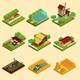 Isometric Farm Set