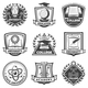 Vintage Monochrome Educational Labels Set - GraphicRiver Item for Sale