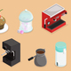 Isometric Coffee Elements Set - GraphicRiver Item for Sale