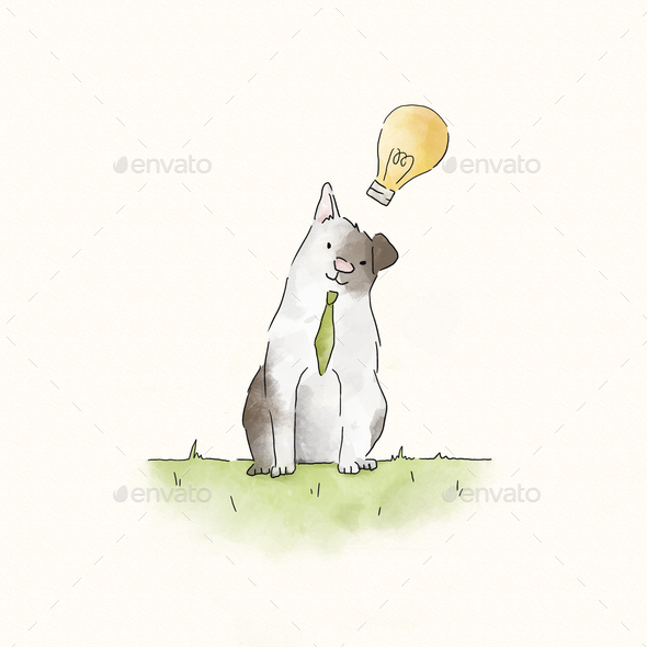 Smart cat with creative ideas - Stock Photo - Images