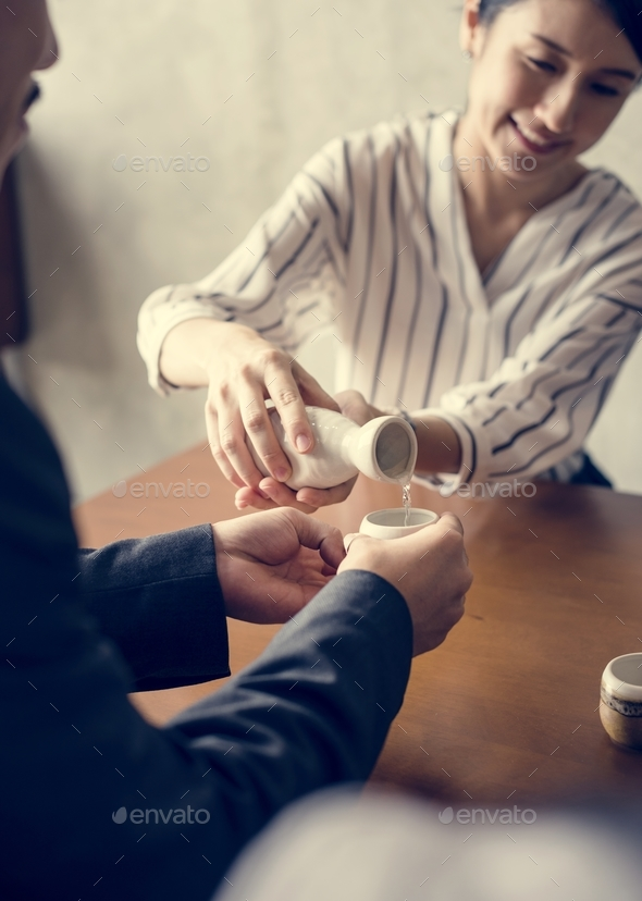 Tea ceremony japanese culture - Stock Photo - Images