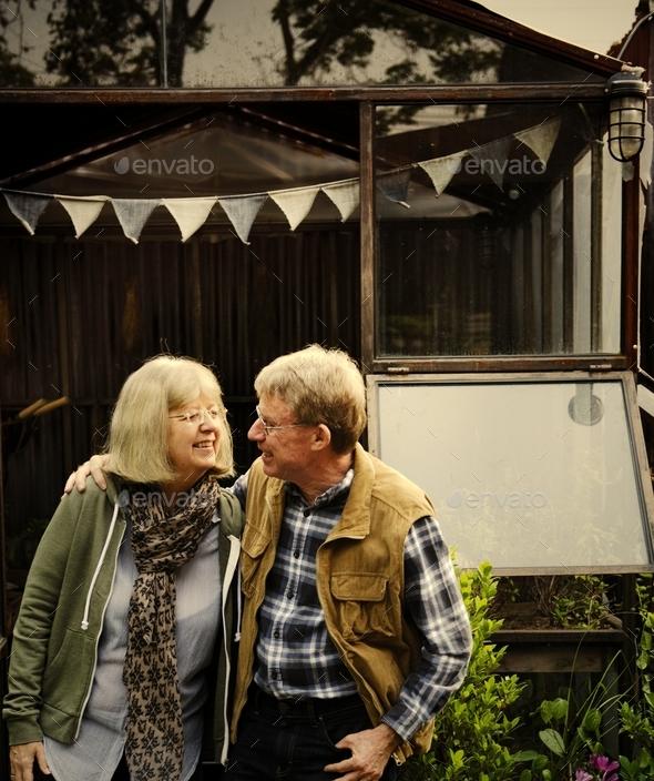 Happy senior couple - Stock Photo - Images