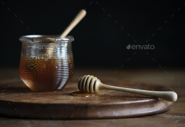 Organic honey food photography recipe idea - Stock Photo - Images