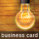 Lightbulb Business Card - GraphicRiver Item for Sale