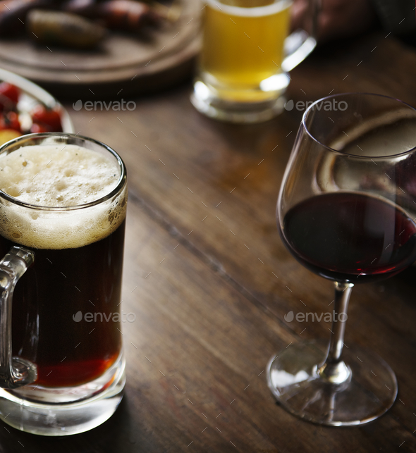 Glasses of alcohol on the table - Stock Photo - Images