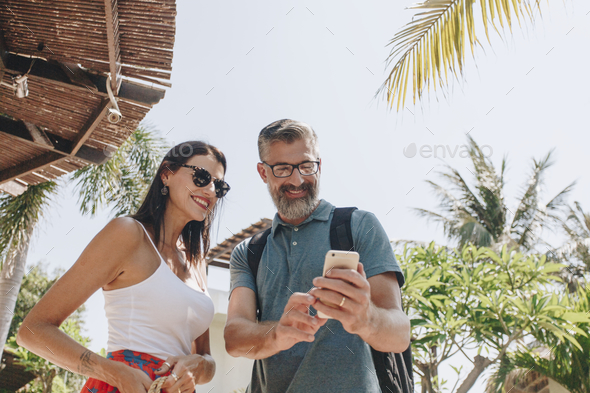 Couple on a honeymoon trip - Stock Photo - Images