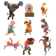 Animals Doing Exercise in the Gym