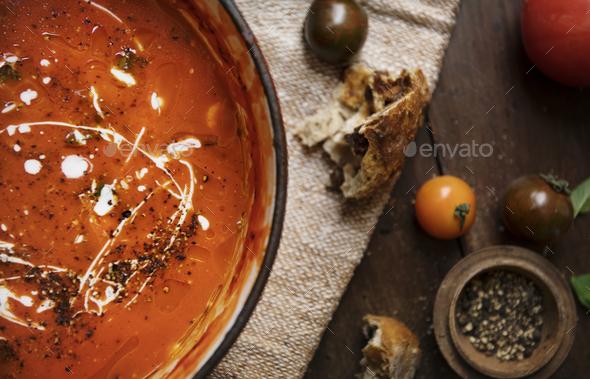 Tomato sauce food photography recipe idea - Stock Photo - Images