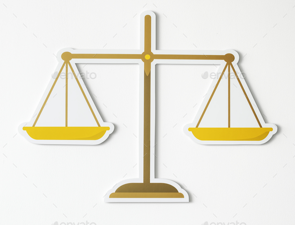 Legal scale of justice icon - Stock Photo - Images