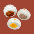 Three Chinese steamed buns illustration - PhotoDune Item for Sale