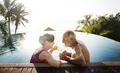 A honeymoon couple enjoying summertime - PhotoDune Item for Sale