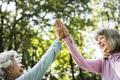 Senior friends exercising outdoors - PhotoDune Item for Sale