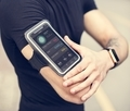 A man wearing a smartphone armband - PhotoDune Item for Sale