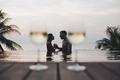Couple enjoying a romantic sunset - PhotoDune Item for Sale
