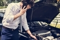 Man calling for help to fix his car - PhotoDune Item for Sale