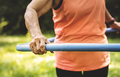 Senior woman exercising with a hula hoop - PhotoDune Item for Sale