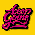 Keep going inspirational quote illustration - PhotoDune Item for Sale