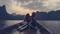 Couple boating on a quiet lake - PhotoDune Item for Sale