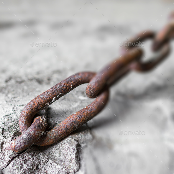 Rusty chain - Stock Photo - Images