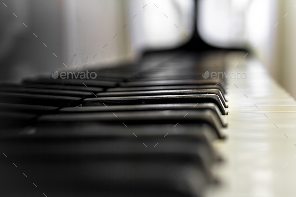 Old Piano keyboard - Stock Photo - Images