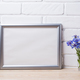 Silver landscape frame mockup with cornflower - PhotoDune Item for Sale