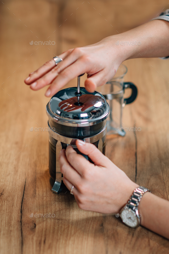 French press coffee - Stock Photo - Images